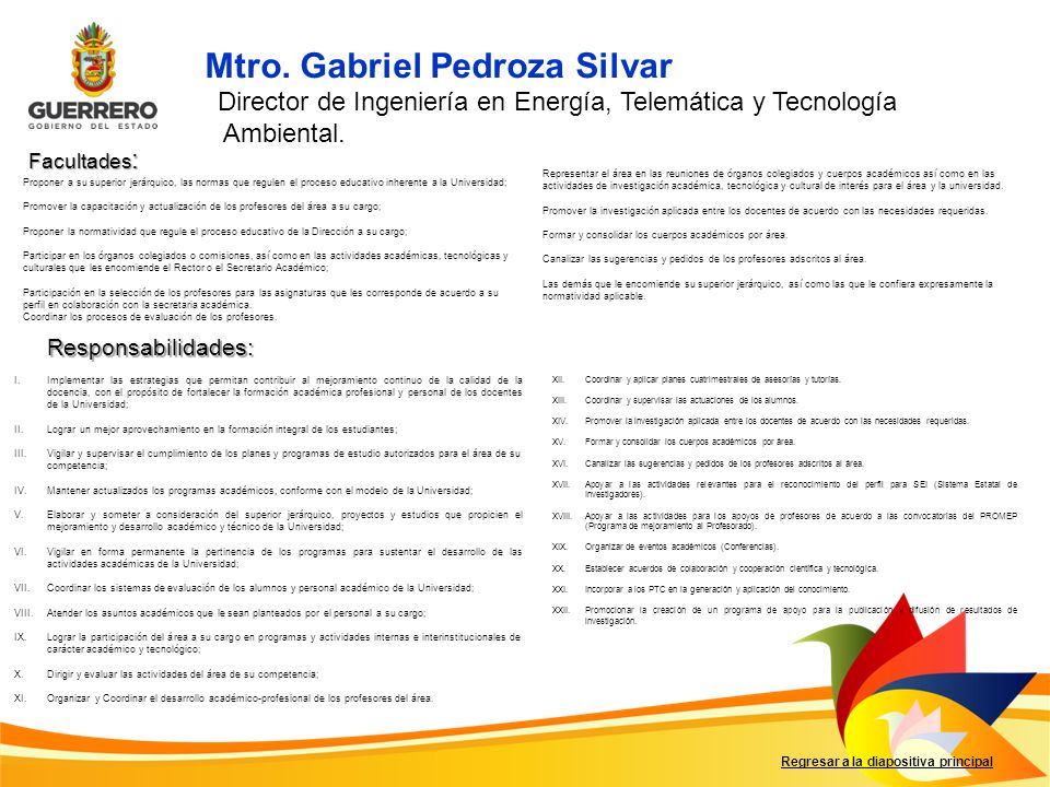 Mtro. Gabriel Pedroza Silvar