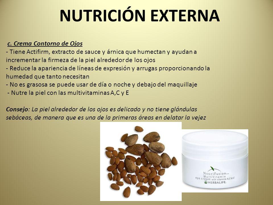 NUTRICIÓN EXTERNA c. Crema Contorno de Ojos