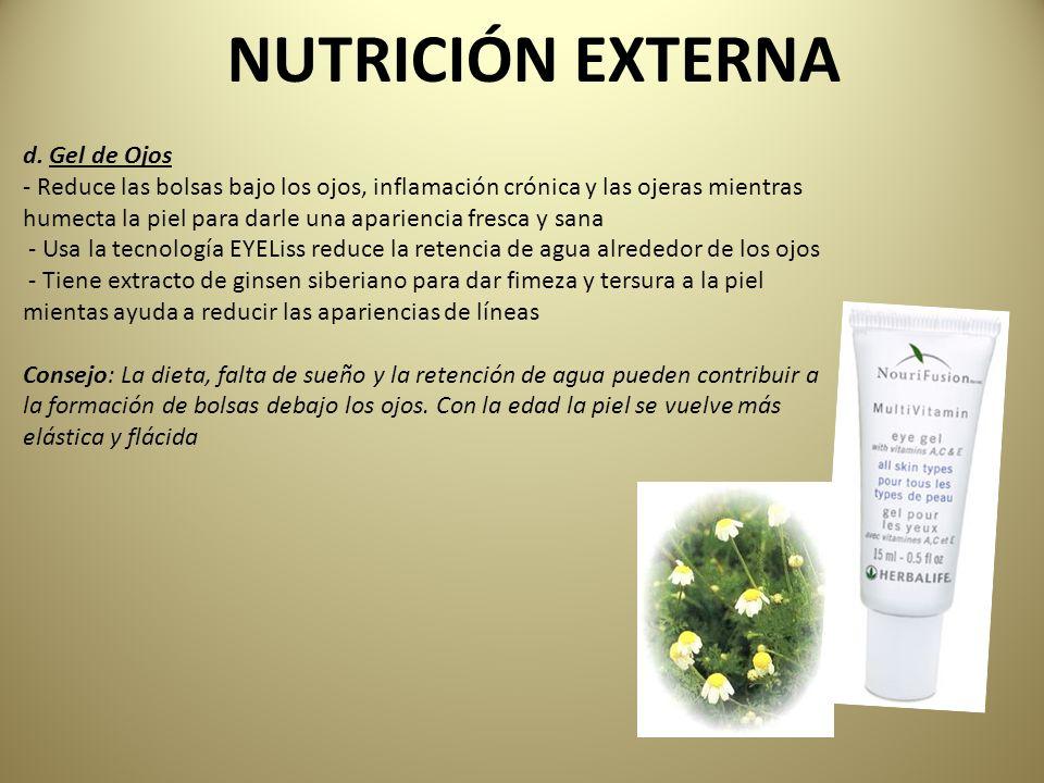 NUTRICIÓN EXTERNA d. Gel de Ojos
