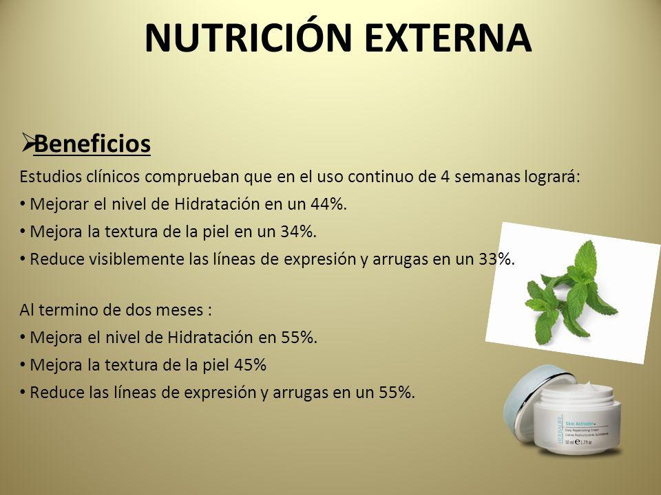 NUTRICIÓN EXTERNA Beneficios