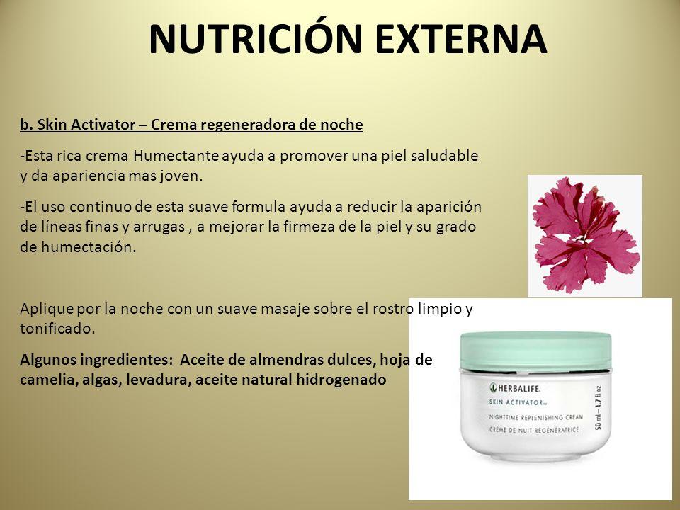 NUTRICIÓN EXTERNA b. Skin Activator – Crema regeneradora de noche
