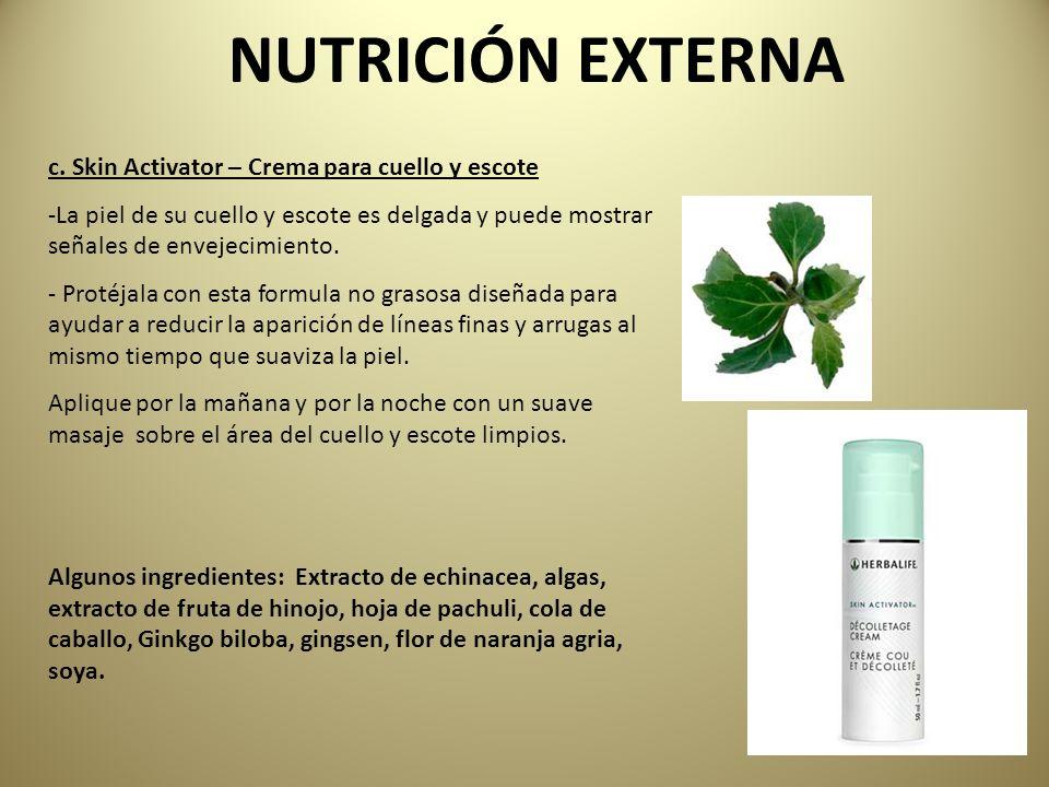 NUTRICIÓN EXTERNA c. Skin Activator – Crema para cuello y escote