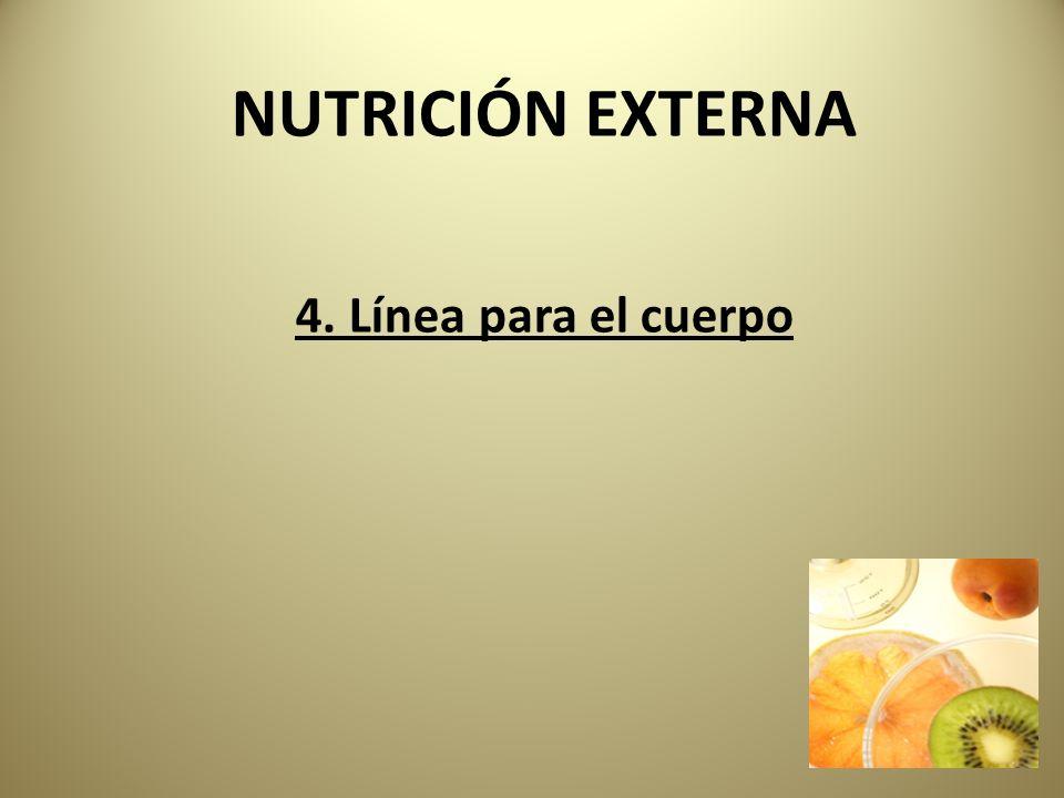 NUTRICIÓN EXTERNA 4. Línea para el cuerpo