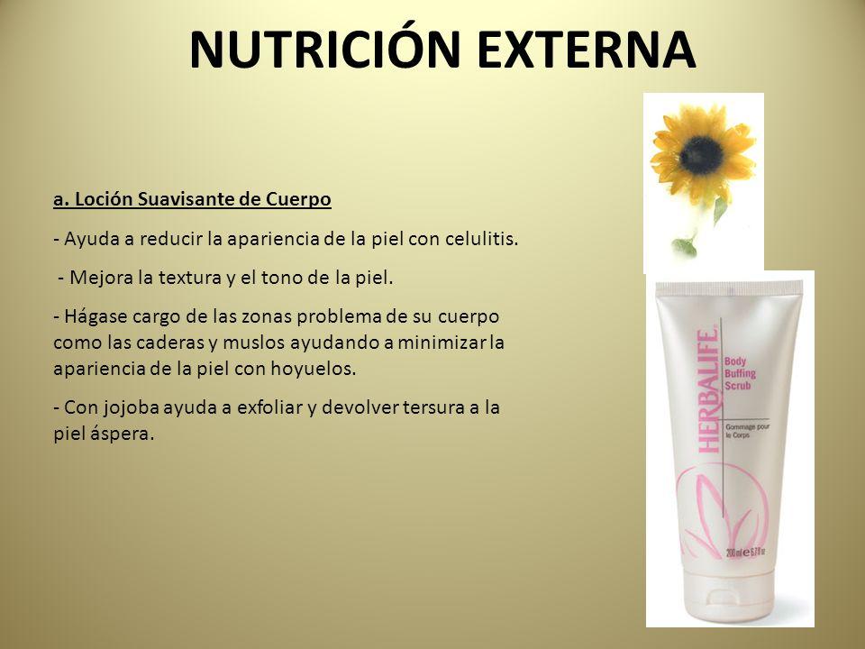 NUTRICIÓN EXTERNA a. Loción Suavisante de Cuerpo