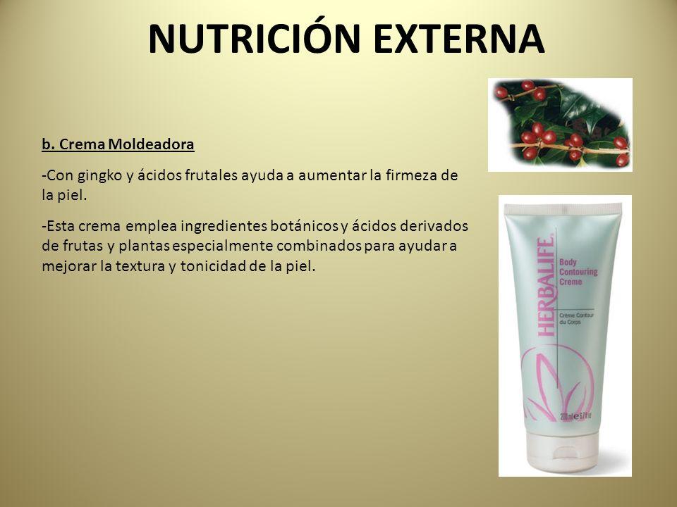 NUTRICIÓN EXTERNA b. Crema Moldeadora