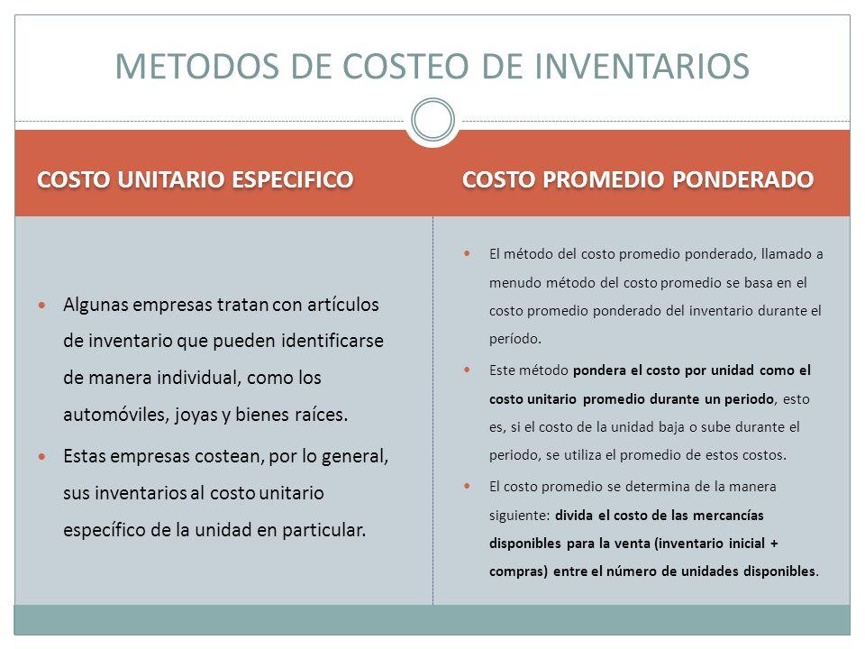 METODOS DE COSTEO DE INVENTARIOS
