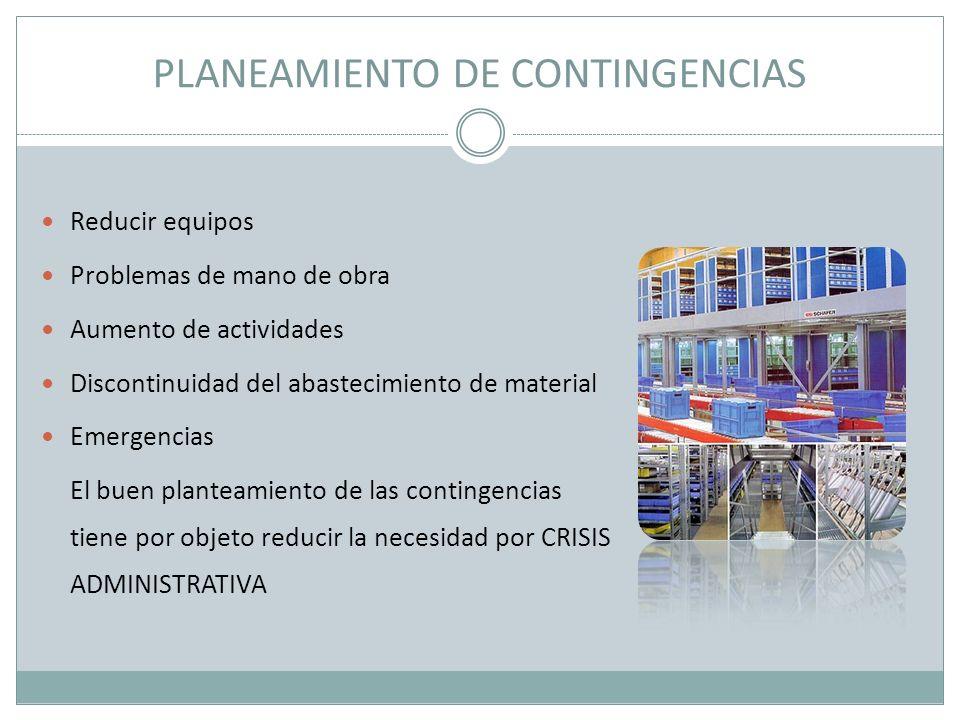PLANEAMIENTO DE CONTINGENCIAS