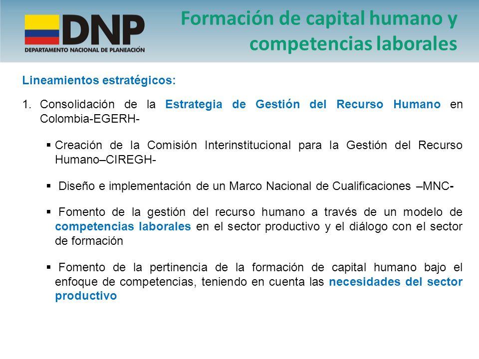 Formación de capital humano y competencias laborales