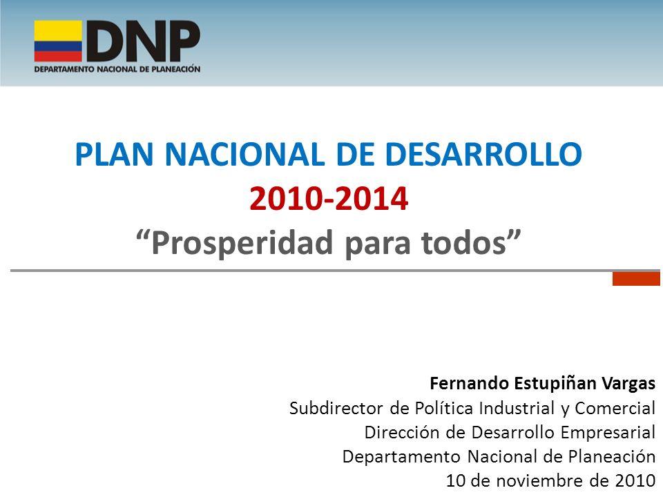 Plan Nacional de Desarrollo Prosperidad para todos
