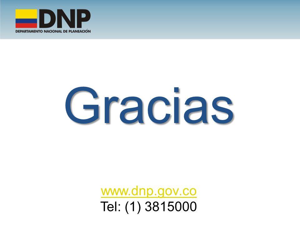 Gracias www.dnp.gov.co Tel: (1) 3815000