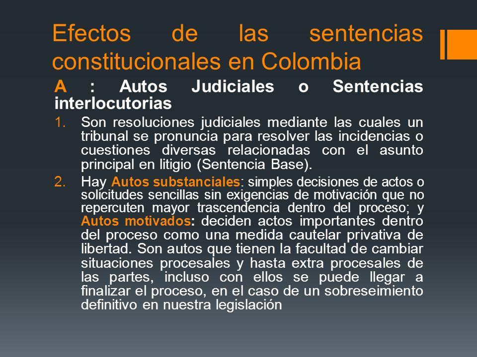 Efectos de las sentencias constitucionales en Colombia