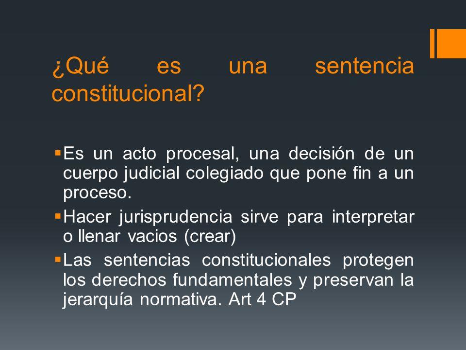¿Qué es una sentencia constitucional