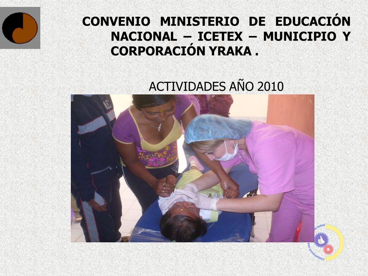 CONVENIO MINISTERIO DE EDUCACIÓN NACIONAL – ICETEX – MUNICIPIO Y CORPORACIÓN YRAKA .