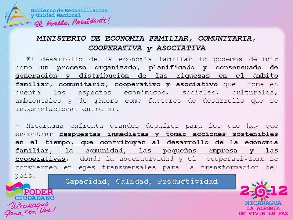 MINISTERIO DE ECONOMIA FAMILIAR, COMUNITARIA, COOPERATIVA y ASOCIATIVA