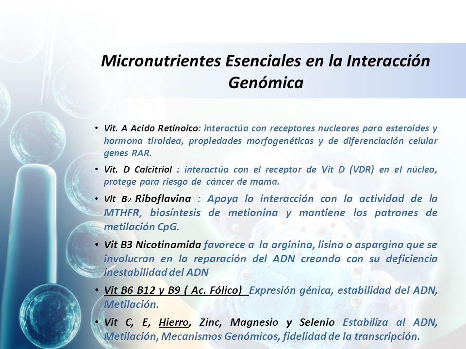 Micronutrientes Esenciales en la Interacción Genómica