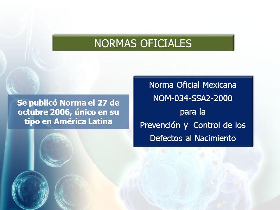 NORMAS OFICIALES Norma Oficial Mexicana NOM-034-SSA2-2000 para la