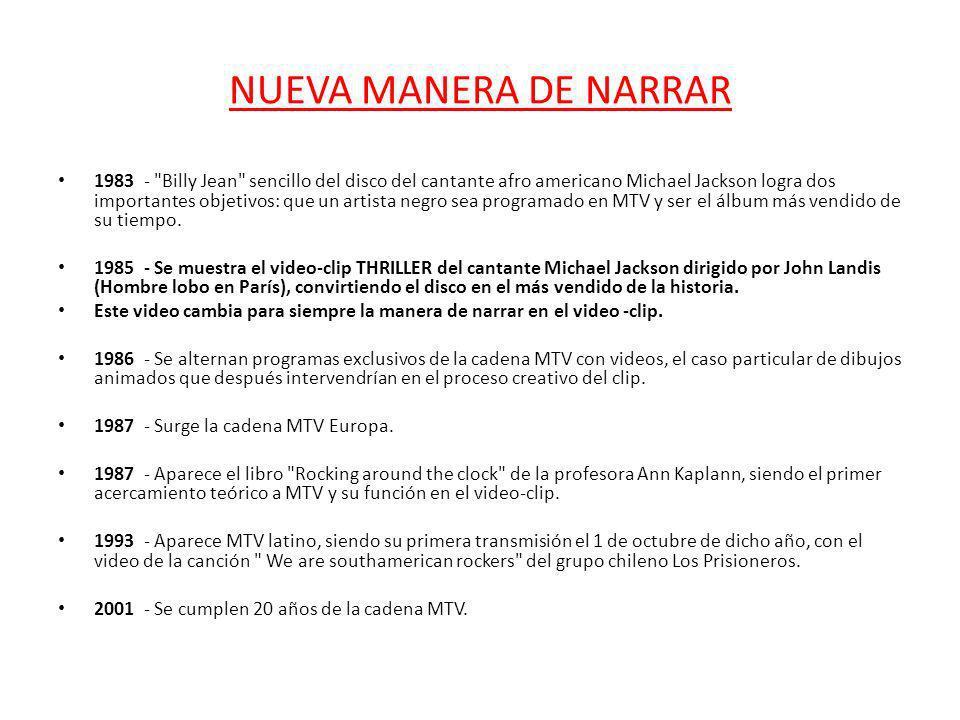 NUEVA MANERA DE NARRAR