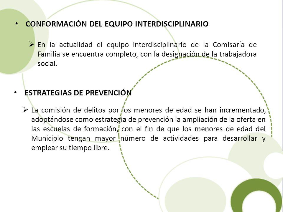 CONFORMACIÓN DEL EQUIPO INTERDISCIPLINARIO