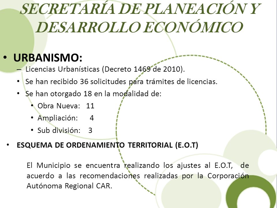 SECRETARÍA DE PLANEACIÓN Y DESARROLLO ECONÓMICO