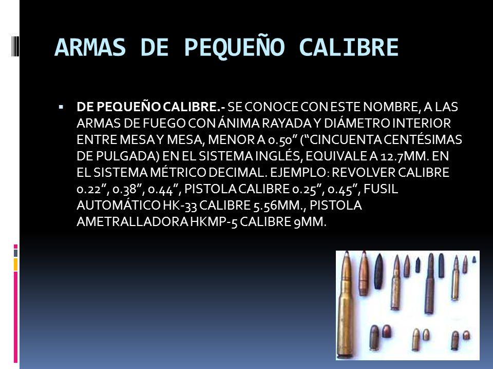 ARMAS DE PEQUEÑO CALIBRE