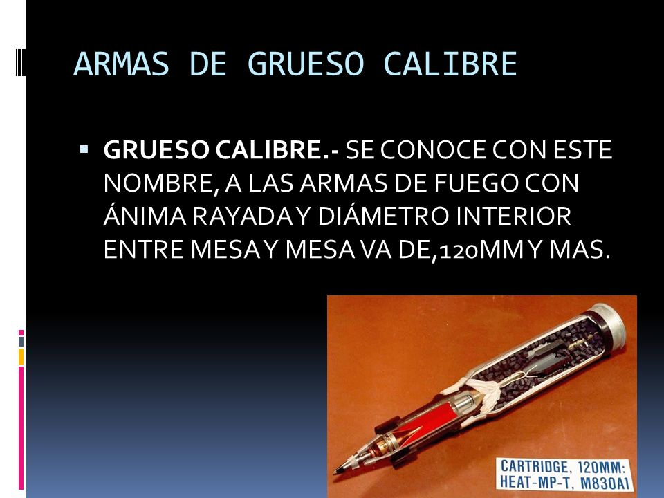 ARMAS DE GRUESO CALIBRE