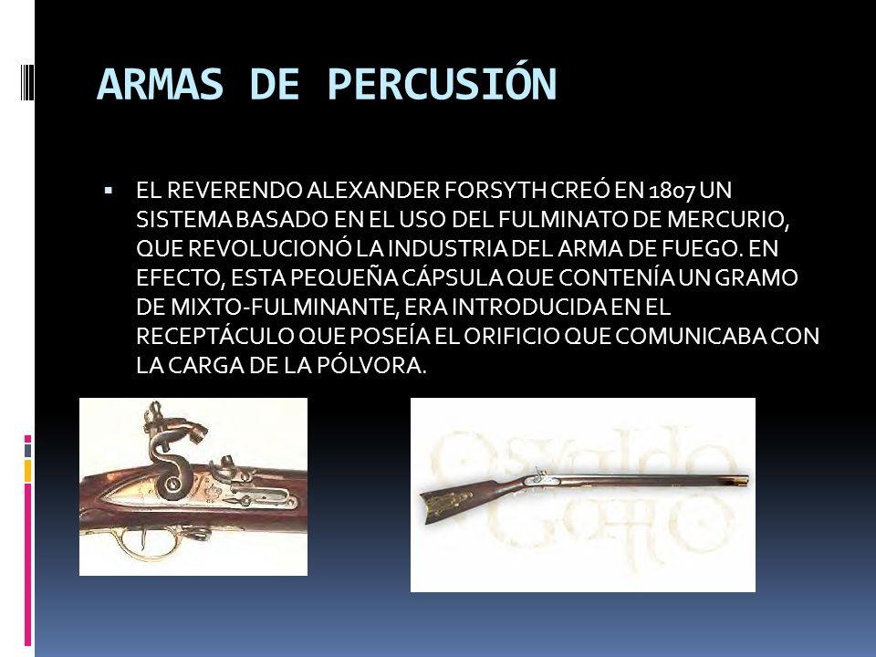 ARMAS DE PERCUSIÓN
