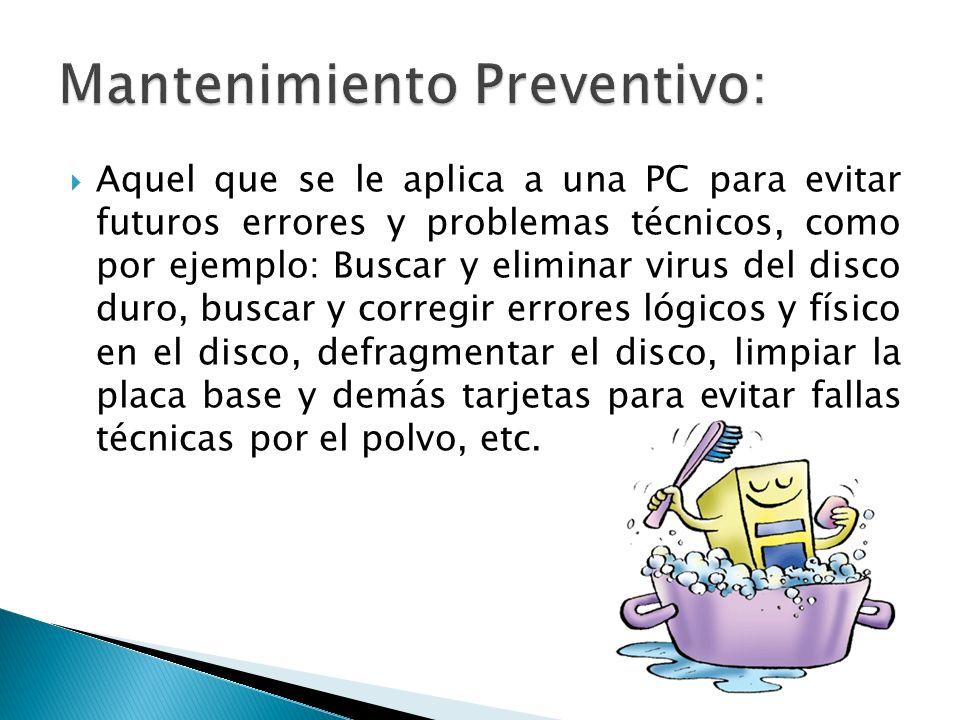 Mantenimiento Preventivo: