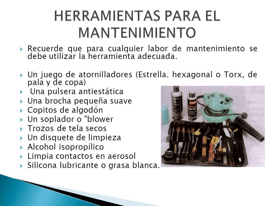 HERRAMIENTAS PARA EL MANTENIMIENTO
