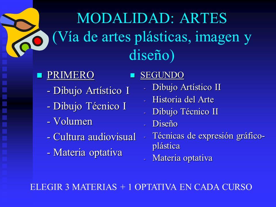 MODALIDAD: ARTES (Vía de artes plásticas, imagen y diseño)