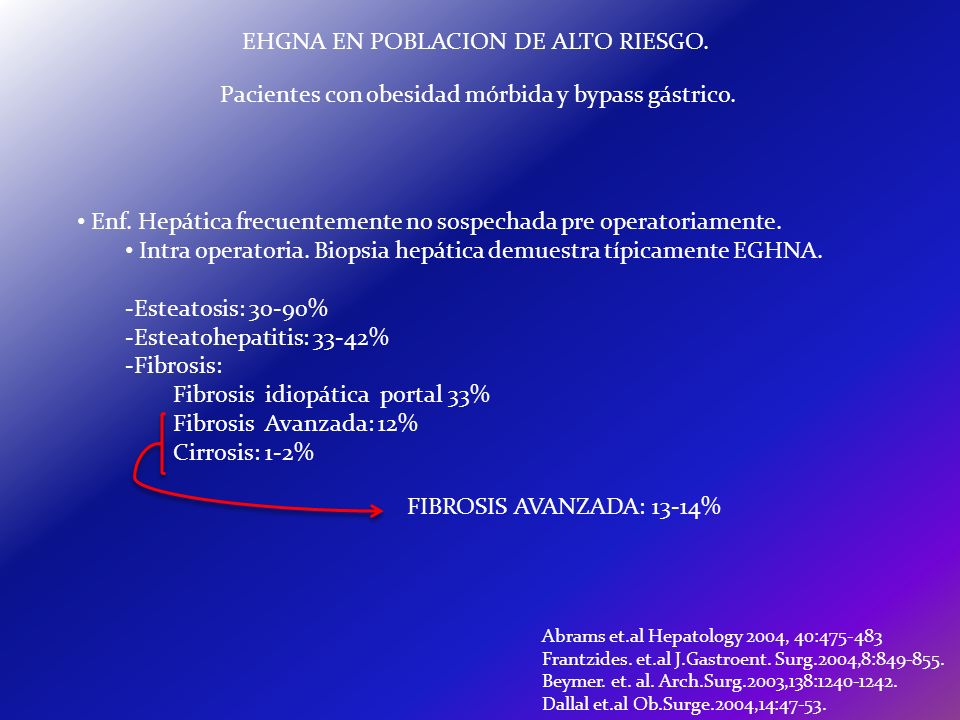 EHGNA EN POBLACION DE ALTO RIESGO.