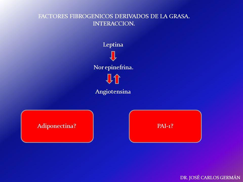 FACTORES FIBROGENICOS DERIVADOS DE LA GRASA. INTERACCION.