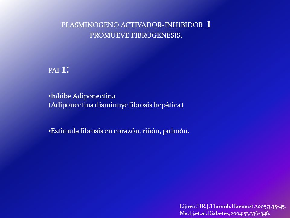 PLASMINOGENO ACTIVADOR-INHIBIDOR 1 PROMUEVE FIBROGENESIS.