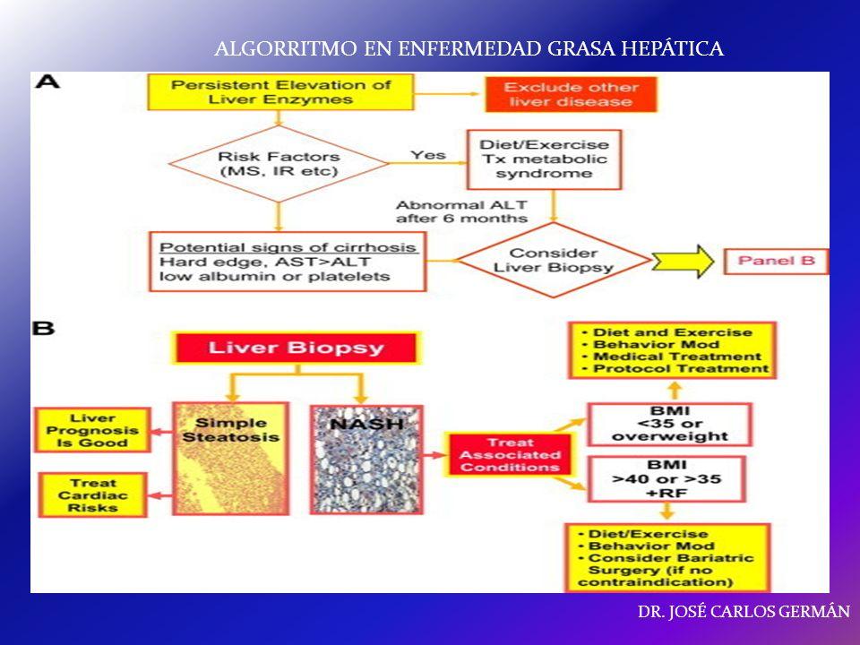 ALGORRITMO EN ENFERMEDAD GRASA HEPÁTICA