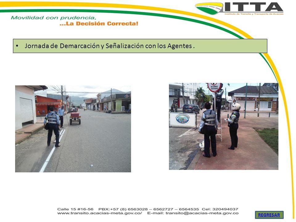 Jornada de Demarcación y Señalización con los Agentes .