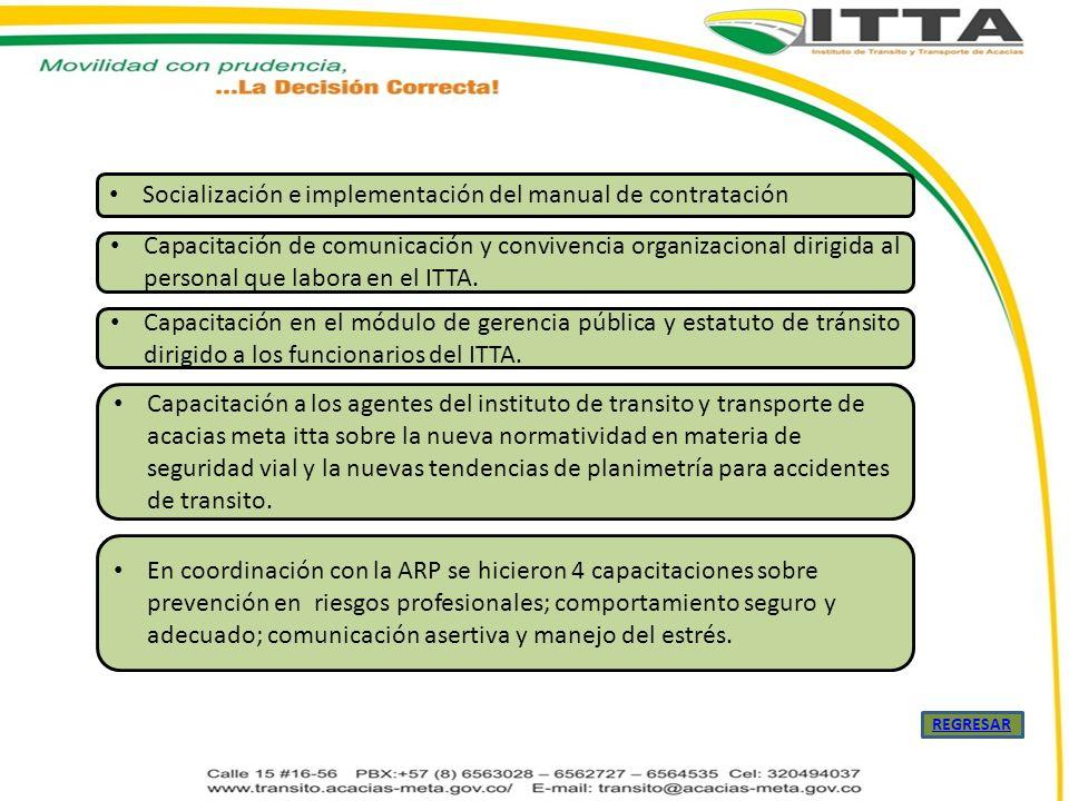 Socialización e implementación del manual de contratación