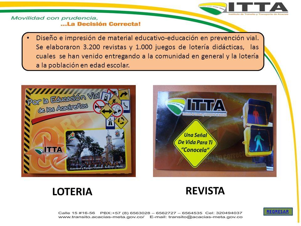 Diseño e impresión de material educativo-educación en prevención vial
