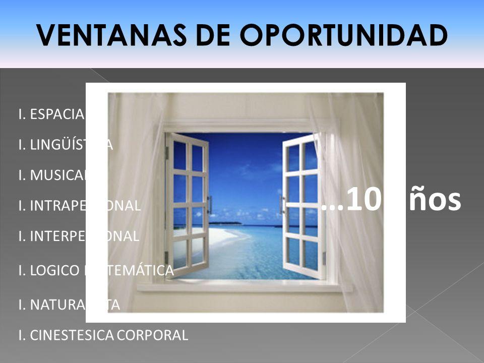 VENTANAS DE OPORTUNIDAD