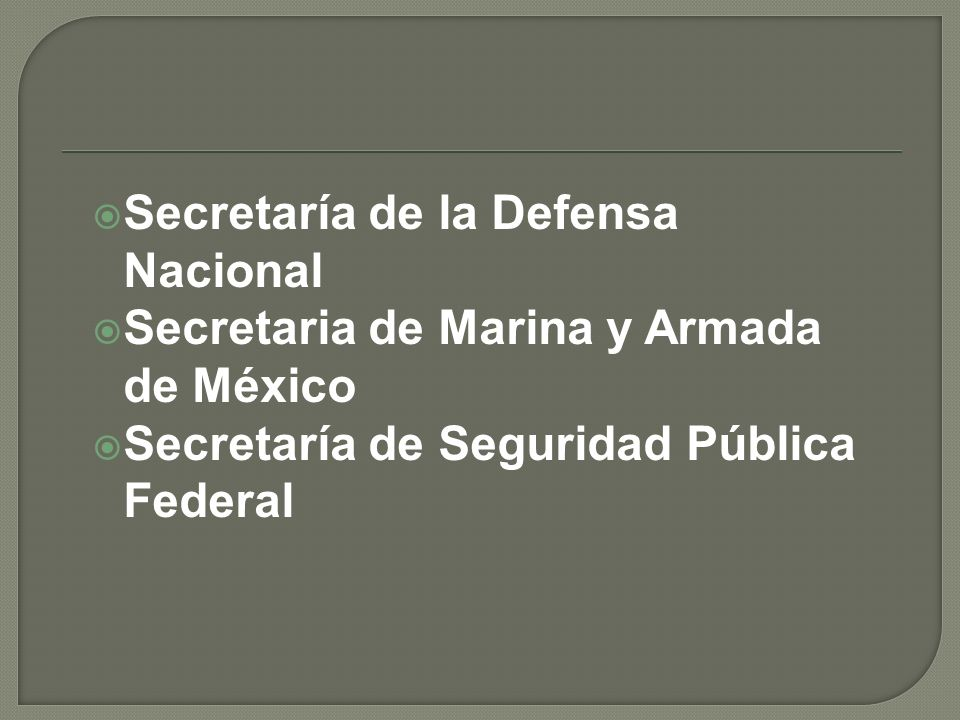 Secretaría de la Defensa Nacional