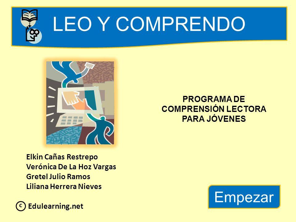 PROGRAMA DE COMPRENSIÓN LECTORA PARA JÓVENES