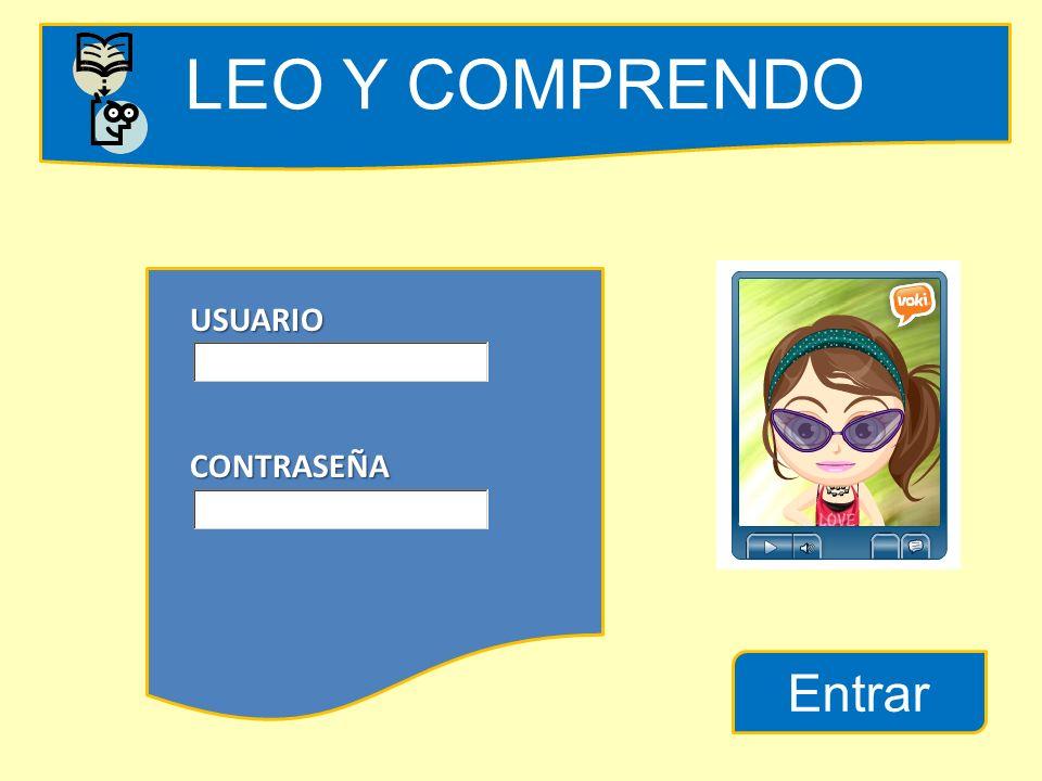 LEO Y COMPRENDO USUARIO CONTRASEÑA Entrar