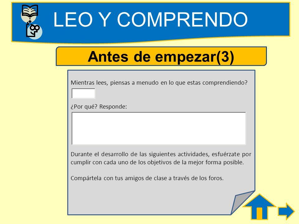 LEO Y COMPRENDO Antes de empezar(3)