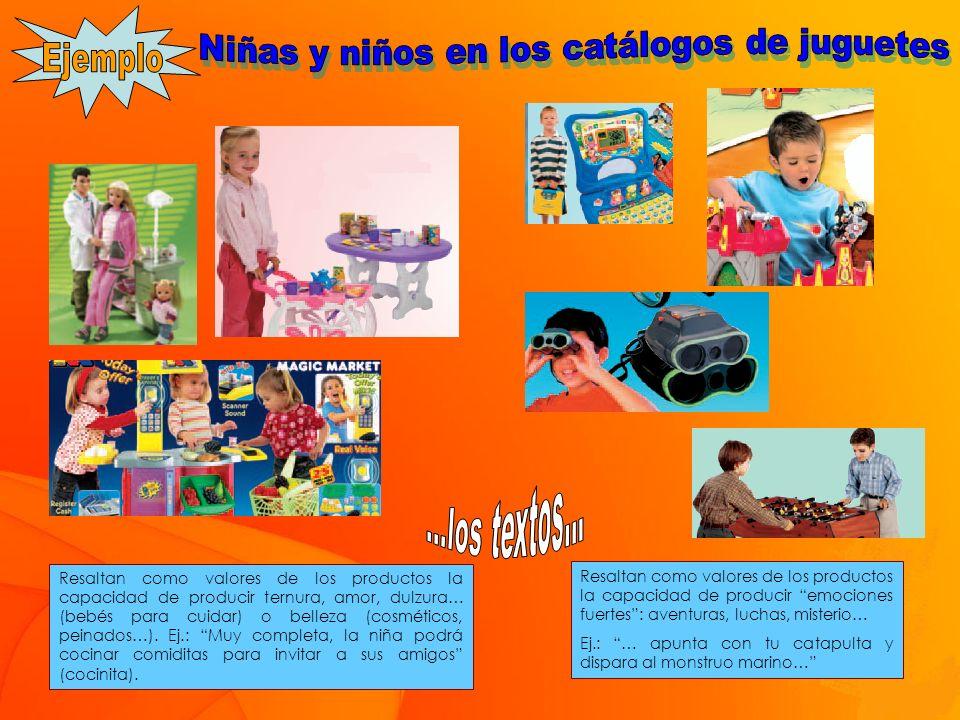 Niñas y niños en los catálogos de juguetes