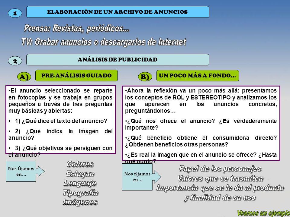 1 2 A) B) Prensa: Revistas, periódicos...