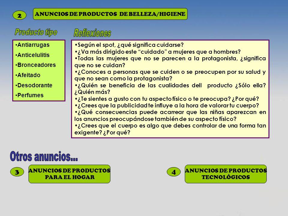 ANUNCIOS DE PRODUCTOS DE BELLEZA/HIGIENE
