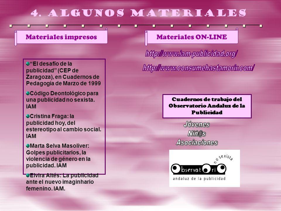 Cuadernos de trabajo del Observatorio Andaluz de la Publicidad