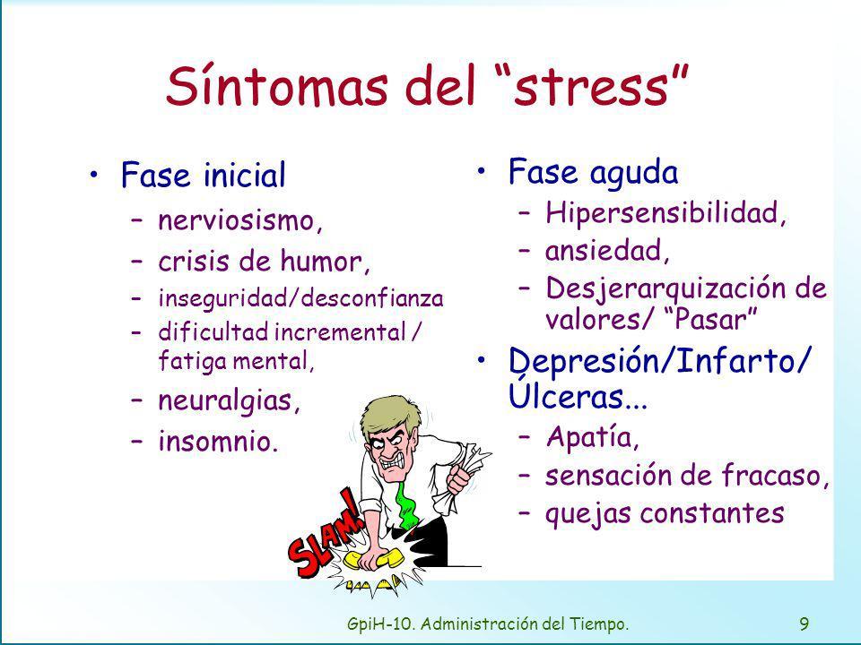 Causas del stress , principales quita tiempos