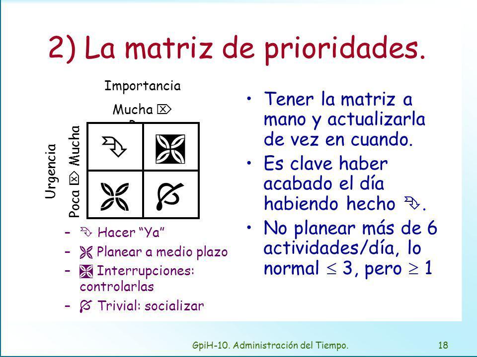 3) Identificar las horas más(E) y menos eficaces(D).