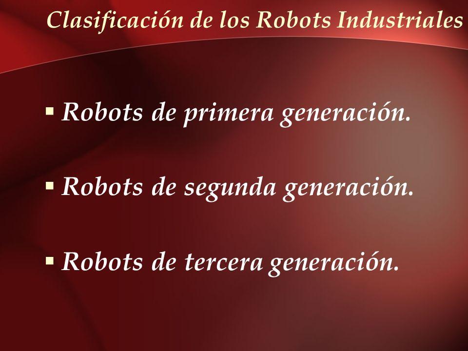 Clasificación de los Robots Industriales