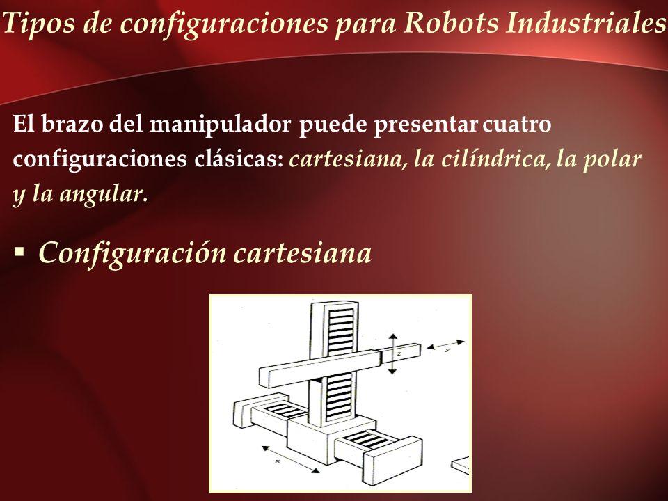 Tipos de configuraciones para Robots Industriales