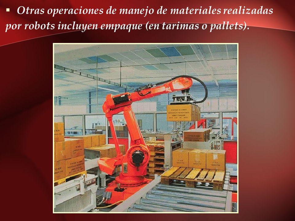 Otras operaciones de manejo de materiales realizadas